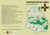 Mapa z opisem powstańczych miejsc pamięci na terenie powiatu nakielskiego